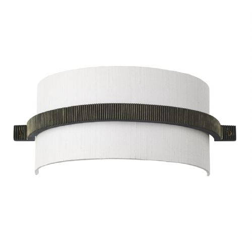 Cog Wall Light Brass + Silk Shade (Specify Colour) COG0794 (7-10 day Delivery) (Double Insulated)